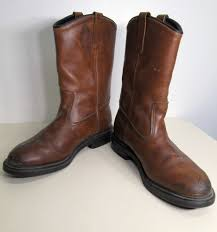 brown motorcycle boots vtg men u0027s red wing pecos lined brown leather biker work motorcycle