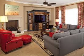 house large family room wall decorating ideas with brown sectional