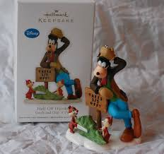 disney musings goofy with chip n dale hallmark ornament