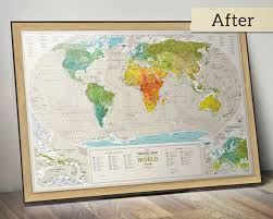 travel world map push pin travel map scratchable world map wall poster