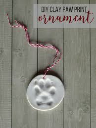 diy clay paw print ornament living la vida holoka