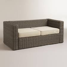 Wicker Sofa Bed by All Weather Wicker Formentera Outdoor Bench With Cushions World