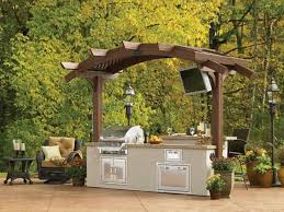 Custom Backyard Bbq Grills by Custom Outdoor Kitchens Calgary Curb Design Landscaping