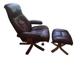 hjellegjerde mobler reclining lounge chair and ottoman chairish