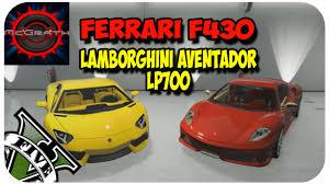 f430 vs lamborghini gallardo gta 5 mod f430 vs lamborghini aventador lp700