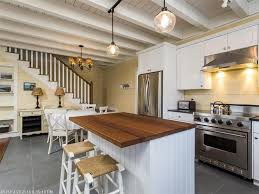 kitchen exposed brick wall also classic pendant lamps plus