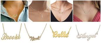 necklaces with your name 9 different types of name necklaces for women and men