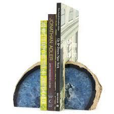 Unique Book Ends Unique Agate Bookends For Attractive Decorating Library Home
