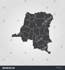Republic Of Congo Map Map Democratic Republic Congo Stock Vector 659255527 Shutterstock