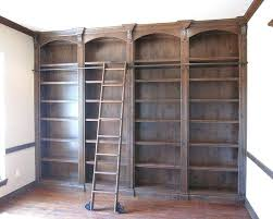 Library Bookcases With Ladder Bookcase Rolling Library Ladder Library Wall Bookcase With