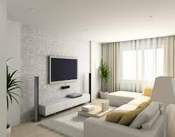 living room with tv mounted on wall interior design