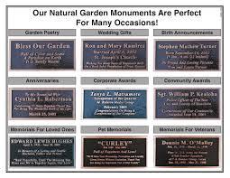 outdoor memorial plaques memorial boulders memorial rock bronze plaque