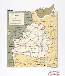 map of belarus large detail political and administrative map of belarus with