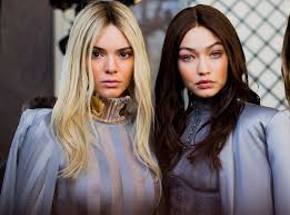 blonde to brunette hair balmain models gigi hadid kendall jenner and more switch hair