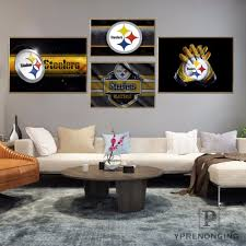 steelers home decor custom pittsburgh steelers home decor canvas printing silk fabric