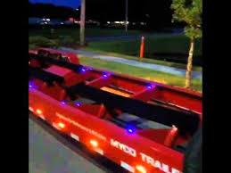 led boat trailer lights new myco boat trailer led custom lighting test out youtube