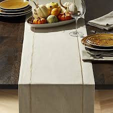 crate and barrel table runner dalton neutral table runner crate and barrel