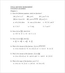 bunch ideas of college algebra worksheets and answers with