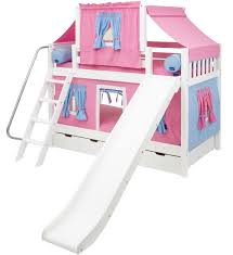 slide bunk beds with tents u0026 curtains maxtrix kids