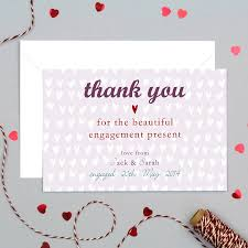 thank you cards personalised engagement or wedding thank you card by molly moo