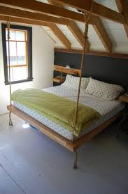How To Make A Hanging Bed Frame Superb Hanging Bed Frame 1 Swing From The Rafters With These