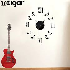 wall clocks music note wall clock music note wall clock modern 3d acrylic musical notes clock wall stickers roman numerals wallpaper stickers diy art wall decals home room decoration music note wall clock