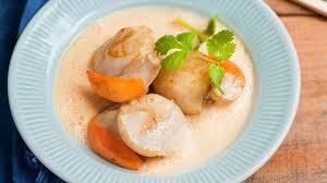 cuisiner noix st jacques recette de coquilles jacques au lait de coco façon thaïe l