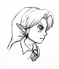 young link profile sketch by left handed knight on deviantart