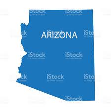 Map Of Mesa Az Blue Map Of Arizona Stock Vector Art 538998919 Istock