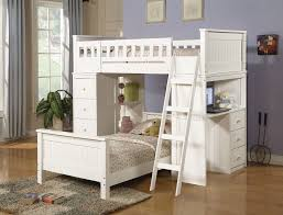wooden loft bunk bed with desk acme 10970 1 white finish wood loft bunk bed set with desk and