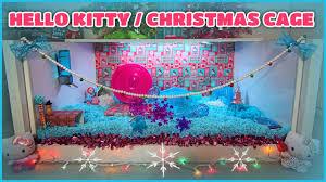 carob u0027s hello kitty christmas hamster cage theme youtube