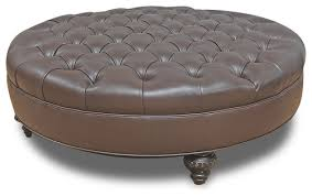 round leather tufted ottoman leather tufted ottoman