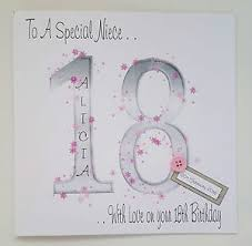 large personalised 18th birthday card goddaughter niece
