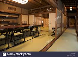 traditional japanese interior traditional japanese style dining room for guests staying at stock