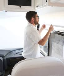 Rv Roman Shades - lovingly restored rv gets modern privacy with roller shades