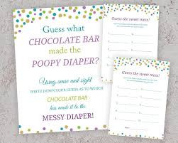 peacock themed baby shower games guess what chocolate bar