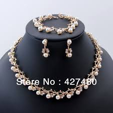 pearls gold necklace sets images 2018 2014 fashion bridal jewelry set most popular gold plating jpg