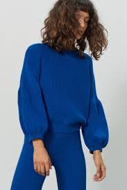 navy sweaters designer sweaters knitwear mara hoffman official site