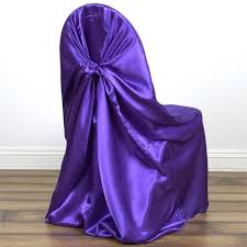 satin chair covers purple universal satin chair covers efavormart