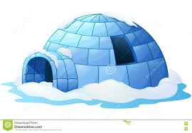 igloo a white background stock vector image 81142088
