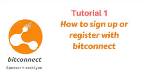 bitconnect sign up bitconnect 1 how to sign up or register with bitconnect youtube