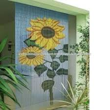 Bamboo Door Curtains Bamboo Beaded Curtain Sunflower Bamboo Beaded Door Curtains