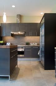 11 best kitchen ideas images on pinterest two tone kitchen slate tile backsplash and dark cabinets