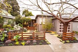 asian inspired cottage front yard garden with and