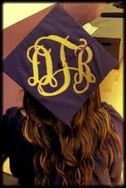 monogram graduation cap my monogram graduation cap monograms and glitter