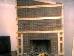 How To Update Brick Fireplace by How To Cover A Fireplace Using Sheet Rock For The Home