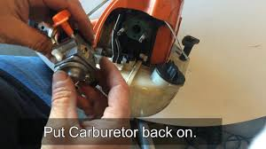 how to clean adjust and fix common carburetor problems on a