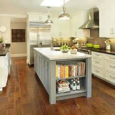 kitchen island with shelves gray center island with cookbook shelves luminaria