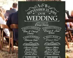 Chalkboard Wedding Programs Print Or Canvas Wedding Timeline Sign Wedding Event Sign