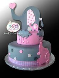 pink fondant custom unique u0027s baby shower cake design with
